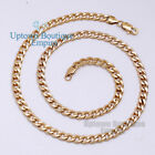 "18-36""Gold Stainless Steel 6 mm Cuban Curb Chain Necklace for Men's"