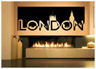 Obstacle Room Decor Art Vinyl Sticker Mural Decal London UK Britain Skyline AS1776