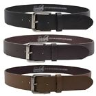 Soulstar Leather Polished Chrome Buckle Belt  Mens Size