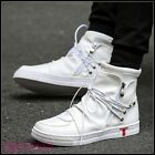 Mens High Top Ankle Boots Athletic Sneakers Lace Up Flats Casual Shoes New Size