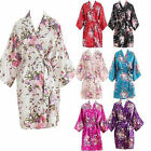 Women Short floral Robe Dressing Gown Bridal Wedding Bride Bridesmaid Kimono*/