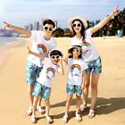 family outfits clothes summer family look T shirt Shorts kids boys girls suit