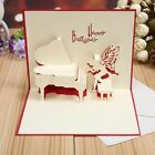 3D Pop Up Greeting Cards Birthday Mothers Day Gift Holiday Anniversary Postcards