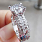 Newshe Engagement Wedding Ring Set For Women 925 Sterling Silver Round White Cz