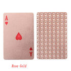 Waterproof Plastic Playing Cards Collection Gold Black Diamond Poker Cards 2018