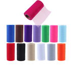 Polyester Tissue Tulle Paper Wedding Colorful Roll Spool Craft Ribbon Decoration
