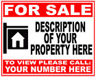 Personalised FOR SALE Sign Boards 4mm Correx HOUSE FLAT LAND PROPERTY from £9.99