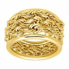 Eternity Gold Triple Rope Band Ring in 14K Gold
