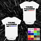 YOUNG PADAWAN STAR WARS STYLE BABY VEST BABYGROW GIFT LIGHTSABER STARWARS