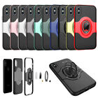 Finger Ring Car Holder Skin Kickstand Bracket Case Cover fr iPhone X/6/7/8 Plus