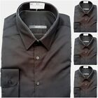 Ex-FAMOUS STORE  COTTON RICH LONG SLEEVE BLACK SHIRTS 14.5 15 15.5 16 16.5