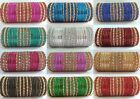 Indian Bollywood Bangles Set Gold Tone Color Glitter Fashion 48 pcs Large Sizes
