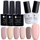 Nail UV Gel Polish Pure Color Nude Series Soak Off Nail Art UV/LED Gel Varnish