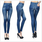 New GENIE SLIM JEGGINGS Sz S/M L/XL 2X & 3X Women Denim Jean Stretch Leggings
