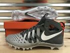 Nike Huarache V 5 LAX Lacrosse Football Cleats White Cool Grey SZ  807142 010