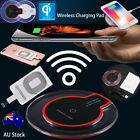 Qi Wireless Fast Charger Dock Charging Pad Mat+Receiver for iPhone 5/6S/7Plus SE