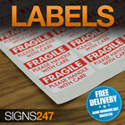FRAGILE STICKERS - Self-Adhesive Labels Please Handle with Care
