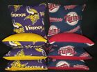 Minnesota Vikings Twins Set of 8 Cornhole Bags FREE SHIPPING $27.99 USD on eBay