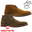 MENS RED TAPE LEATHER DESERT CHELSEA DEALER CHUKKA ANKLE WORK BOOTS SHOES SIZE