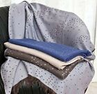 NEW Kelly Wearstler for SFERRA RIPPLE Throw MERINO WOOL Blanket Dot Ivory Beige  image