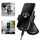 For Samsung Galaxy Note 8 S8 Plus Wireless Car Holder Cradle Mount Fast Charger