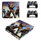 FORTNITE Playstation 4 PS4 OR Slim Console Skin Decal Sticker + 2 Controller