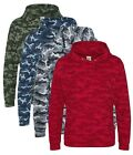 Army GREEN BLUE RED or GREY Camouflage Military Hoodie Hooded Sweatshirt