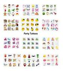 6 x Kids Boys Girls Birthday Party Themed Tattoo Favour Loot Bag Box Fillers