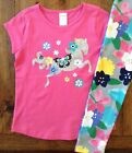 NWT Gymboree Size 4 5 6 7 8 10 Pink Horse Top & Floral Leggings Glitter Girls