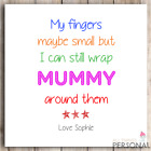 Personalised Mothers Day Card Mum Mummy Granny Grandma Nanny Nannie Mother's Day