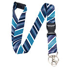 TIE DIAGONAL STRIPES Lanyard Neck Strap With Card/Badge Holder or Key Ring