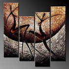 African Oil Painting Stretched Be ruined Art Picture Decor Dance Living Room Bedroom