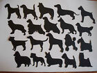 8 VINYL DOG SILHOUETTE DIE CUTS ASSORTED BREEDS TOPPERS A MIX & MATCH