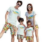 Summer Family Look Outfits Mom Daughter Dad Son Family Vacation Clothing Set