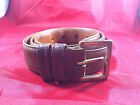 """Coach Mens British Tan Brown Glove Tanned Cowhide Leather 1"""" Belt Size 34"""