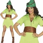 Ladies Archeress Robin Hood Peter Pan Medieval Fancy Dress Costume Book Week
