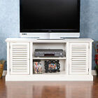 MTS60099 ANTIQUE WHITE 2 LOUVERED DOORS T.V STAND