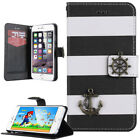 """iPhone 6S 6 4.7"""" Wallet Case ULAK Sailing Style Standable Le"""
