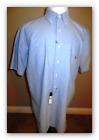 RALPH LAUREN MEN'S SHIRT SHORT SLEEVE CLASSIC BLUE 100% COTTON SIZE LT NWT $98