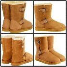 Ugg Women's Classic Short II Ankle High Suede Buckle Boot High Quality Clone