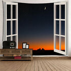 Creative 3D Tapestry Hanging Picture Poster Waterproof Tapestry Night View#4