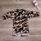 Toddler Kids Baby Girls Camouflage Long Sleeve T-shirt Tops Dress Clothes 1-6Y