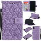 KT Rattan MAGNETIC FLIP LEATHER BOOK WALLET CASE COVER Stand For Phones Purple