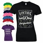 40th Birthday Gift T Shirt Made In 1978 Age 40 Years Original Parts Ladies Top