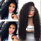 Sexy Malaysian Curly 100% Remy Human Hair Full/Front Lace Wigs Baby Hair Around