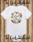 Love Grows Here Beautiful Baby Floral Girl Newborn Gift Clothes Newborn Shirt