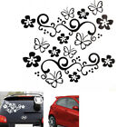 2PCS Flower & Butterfly Vinyl Auto Car Body Graphics window Sticker Decal Decor