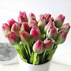 Mothers Day, 12pc/set Pu Stunning Holland Mini Tulip Flower Real Touch Wedding