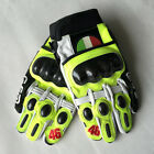 Motorcycle Leather Gloves Moto Gp Valentino Rossi VR46 AGV Carbon Protection