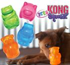 Kong Squeezz Jels - Colourful Animal Shaped Squeaky Dog Puppy Toy - Bouncy Fetch